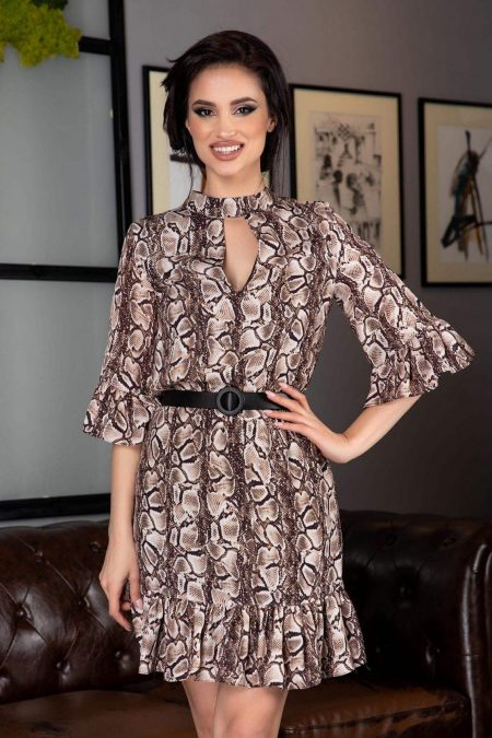 Renate Animal Print Dress