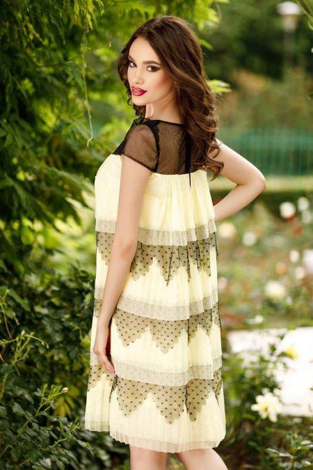 Timeea  Κίτρινο Φόρεμα 4537