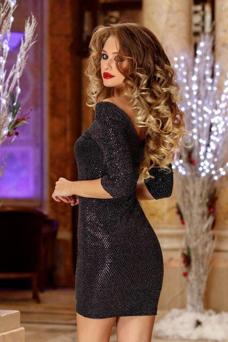 Mirrya Μαύρο Φόρεμα 2228