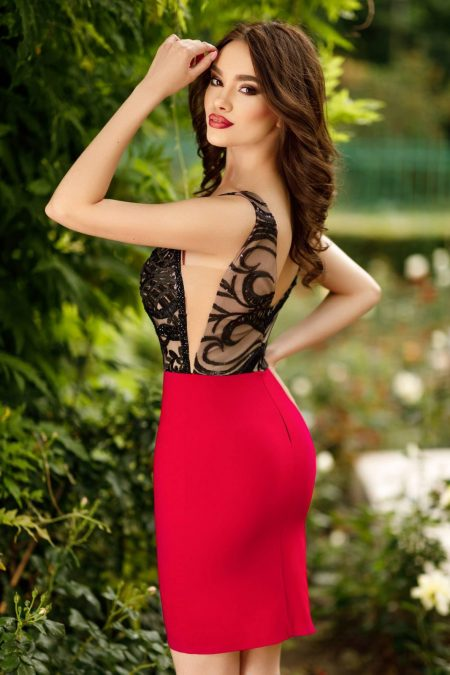 Oksana Κόκκινο Φόρεμα 4377