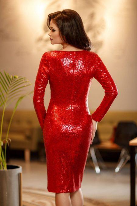 Elektra Midi Κόκκινο Φόρεμα 2356