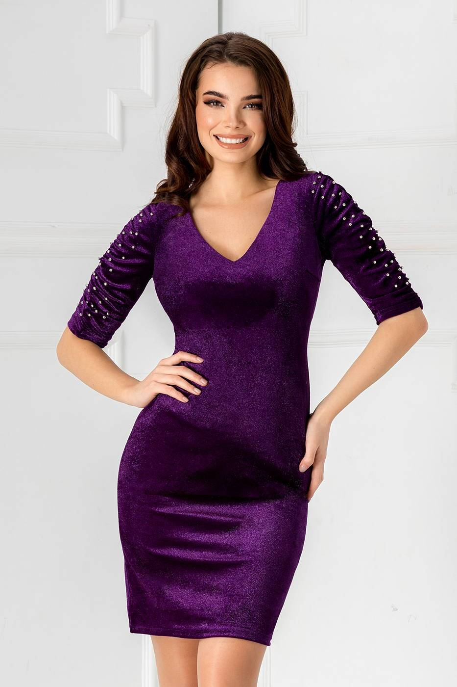 Aylin Violet Dress