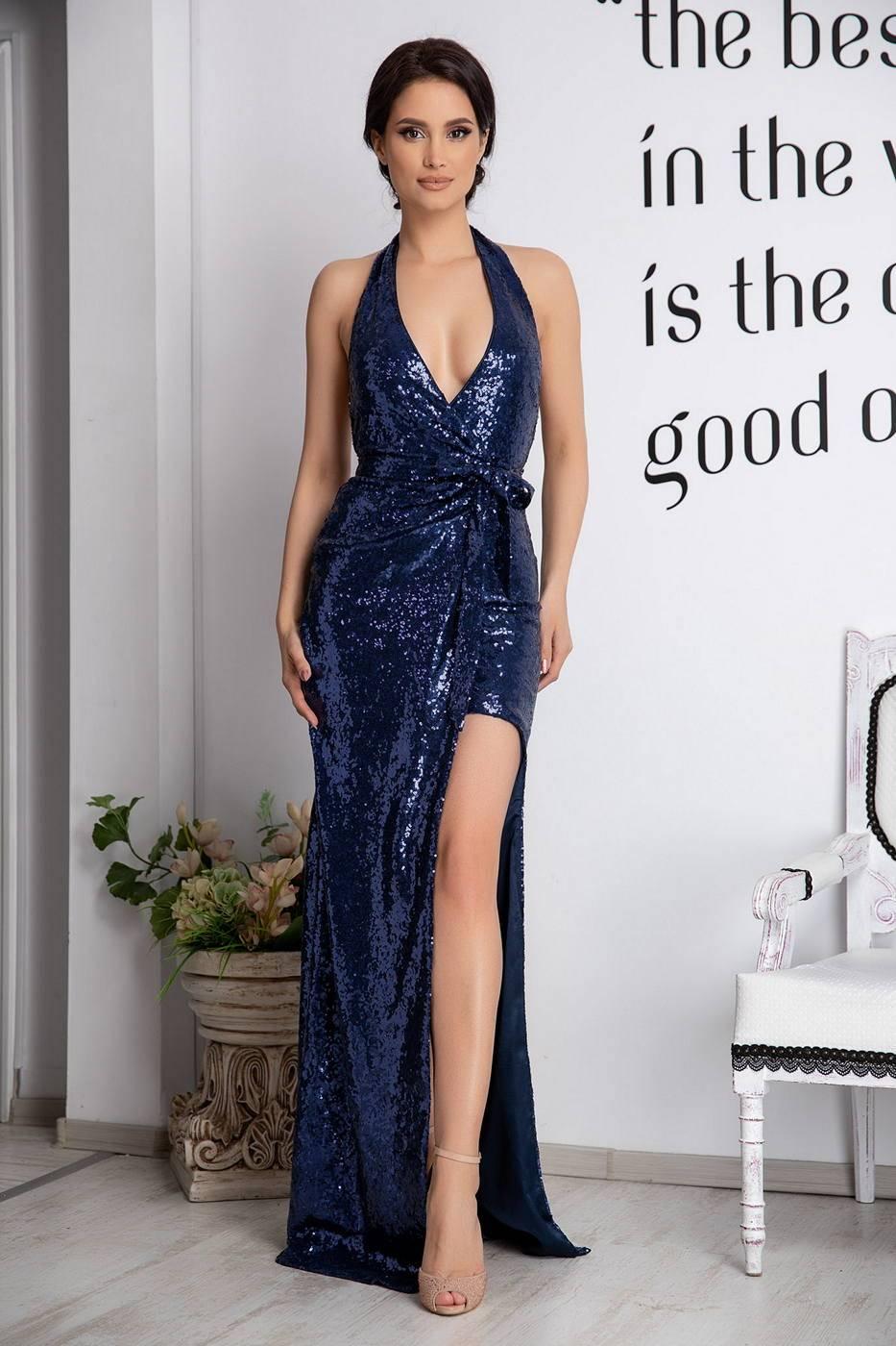 Laguna Navy Blue Dress
