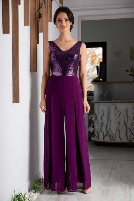 Lexis Purple Jumpsuit