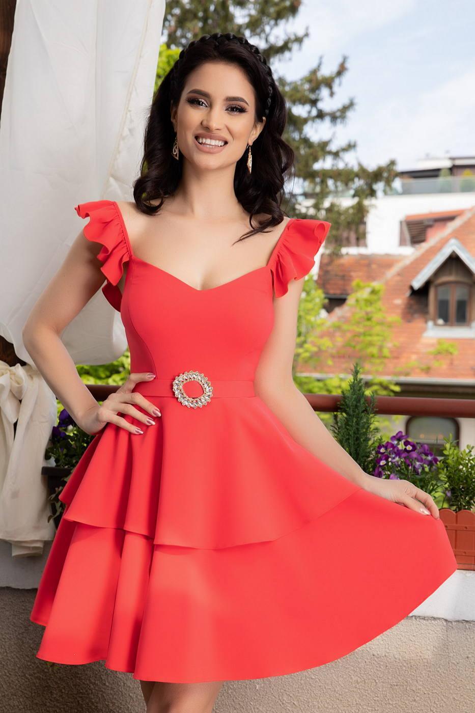 Aniko Coral Dress