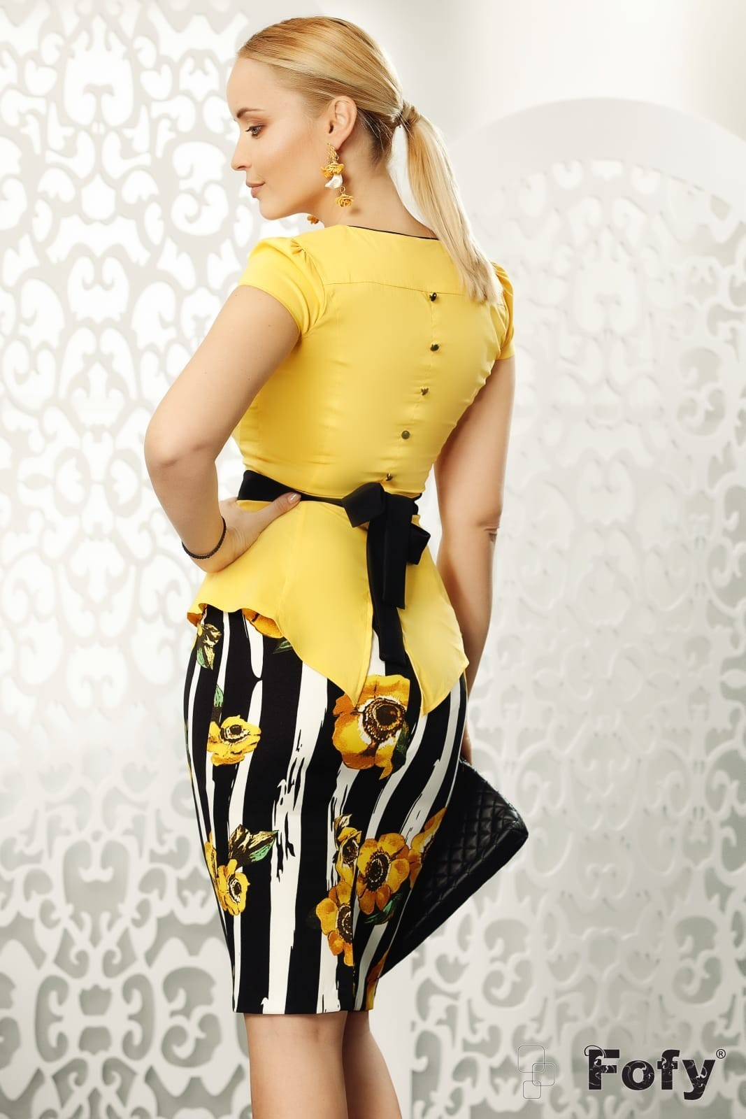 Claire Κίτρινη Φούστα 4592