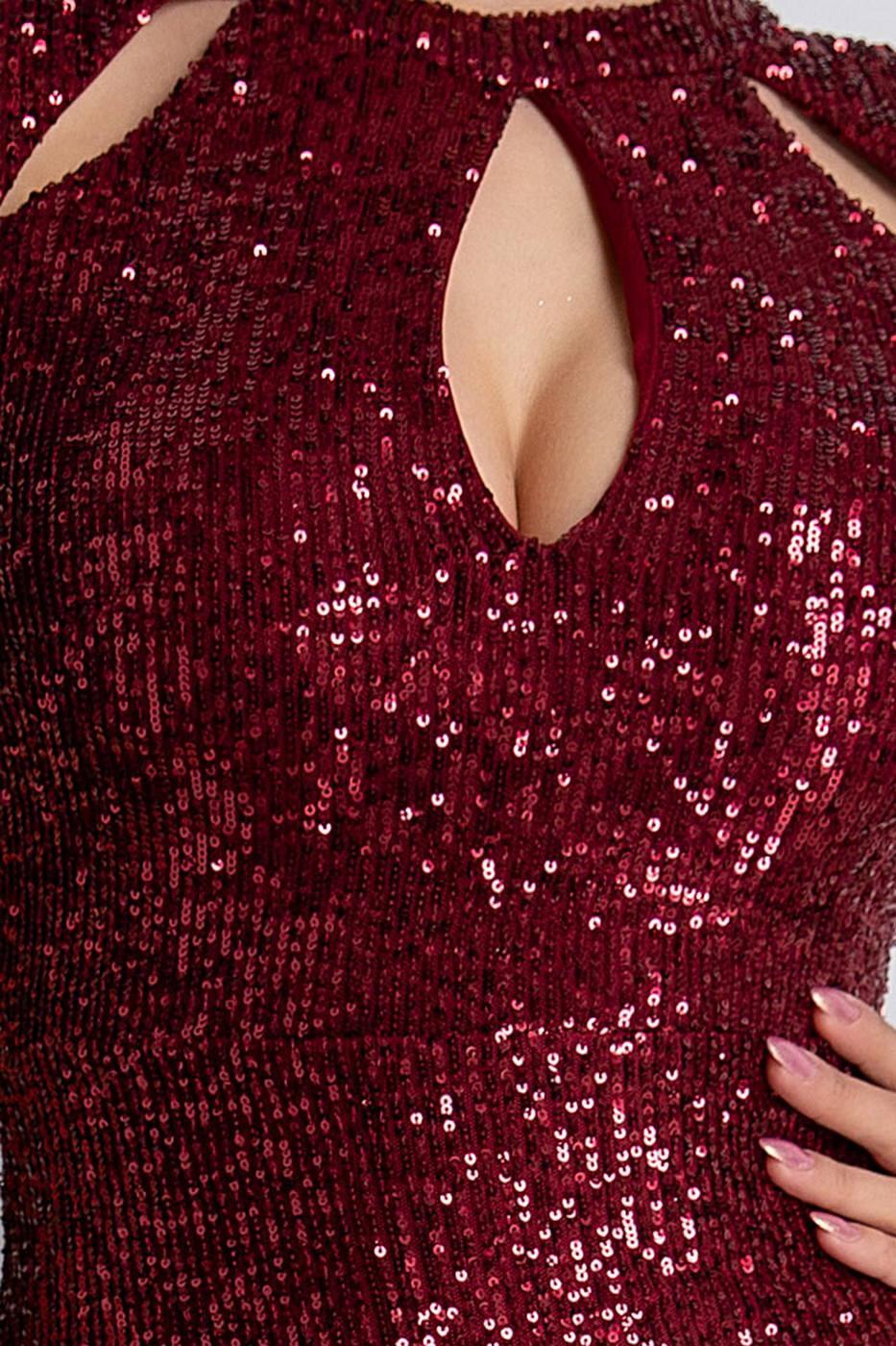 Madelyn Μπορντό Φόρεμα  2111