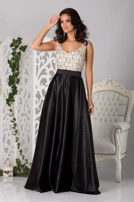 Elissima Maxi Μαύρο Φόρεμα 4597