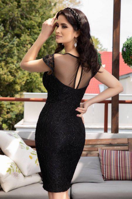 Pista Μαύρο φόρεμα 4515