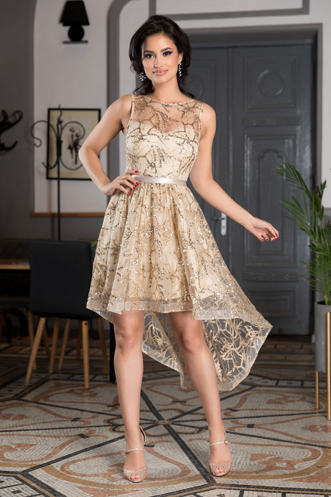 Lorette Golden Dress