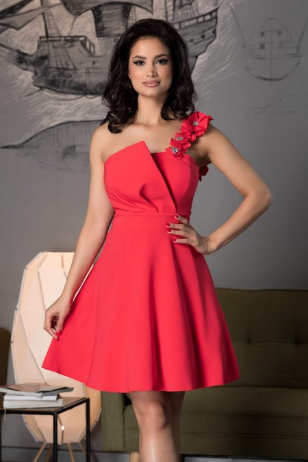 Sofia Coral Dress