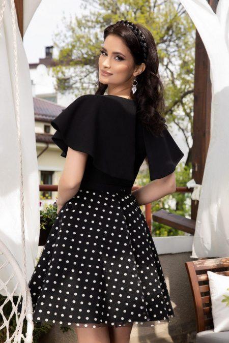 Girly Μαύρο Φόρεμα 4501