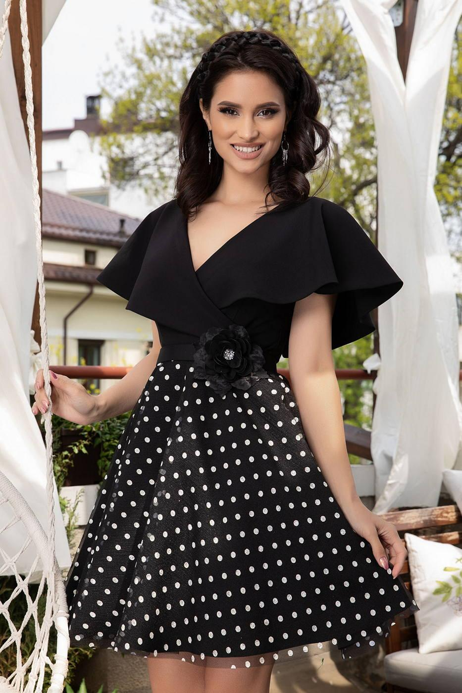 Rosette Μαύρο Φόρεμα 1440