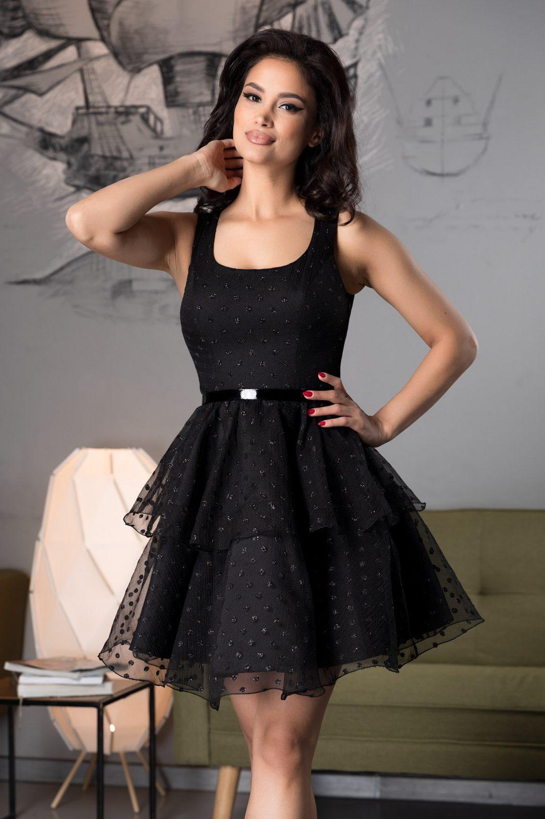 Clarine Black Dress