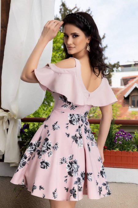 Roselin Ροζ Φόρεμα 1443