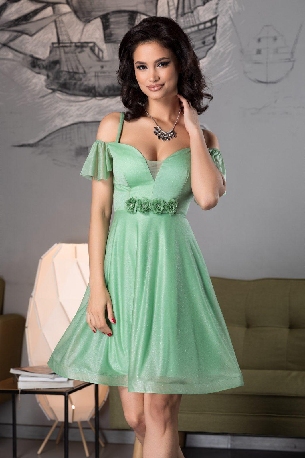 Sonique Green Dress