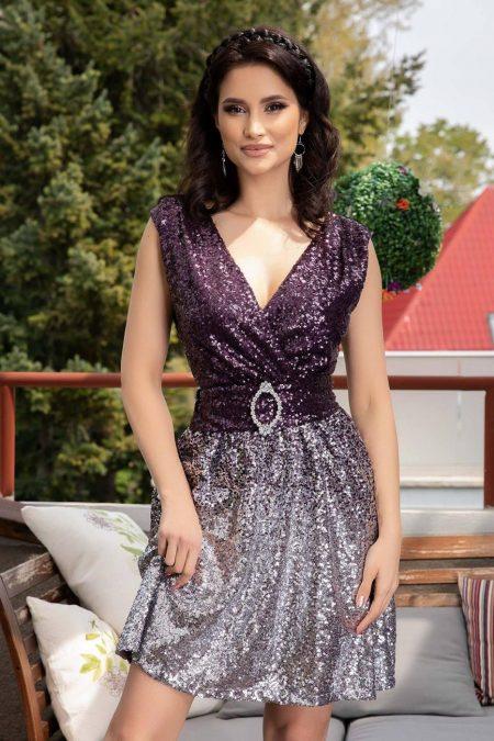 Desiree Purple Dress