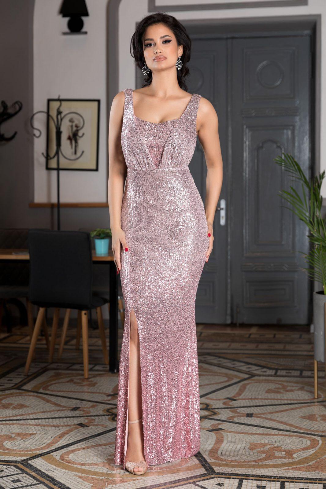 Night Diva Ροζ Φόρεμα 4580