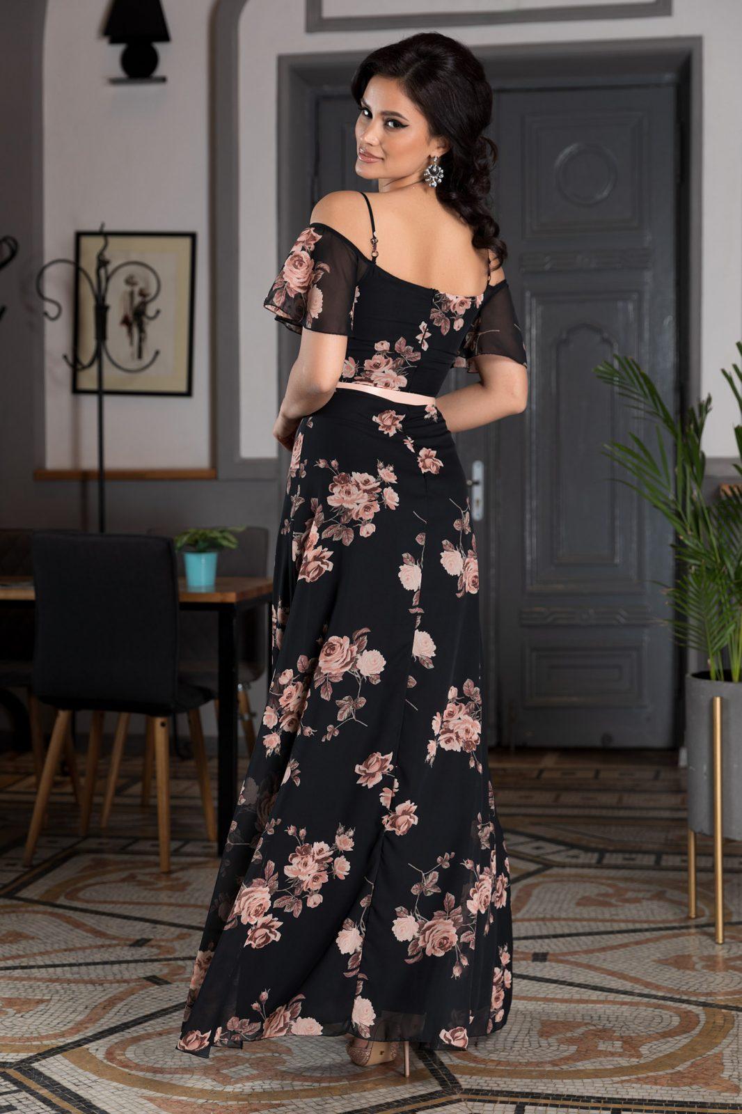 Μαύρο Maxi Φλοράλ Φόρεμα Althea 7779 1