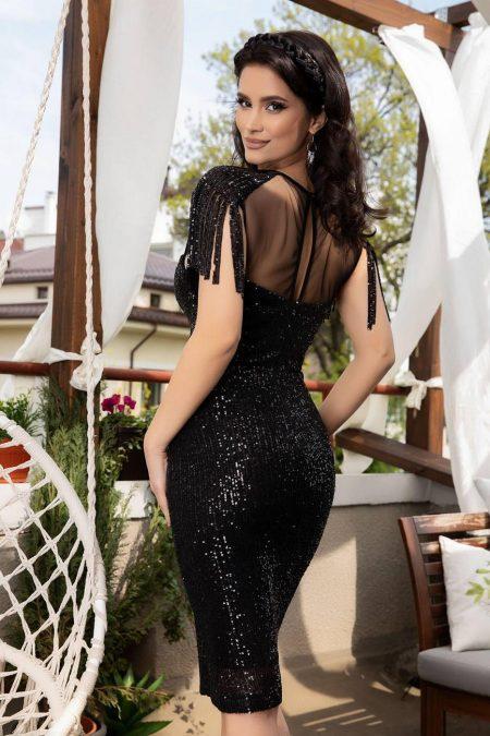 Geena Μαύρο Φόρεμα 4639