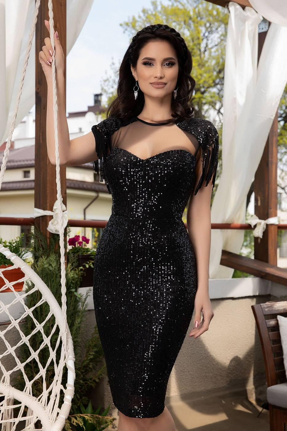Geena Black Dress