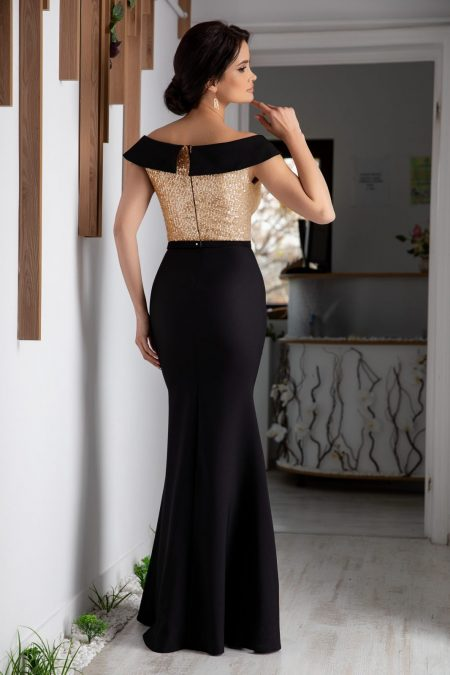 Leah Maxi Χρυσό Φόρεμα 5313