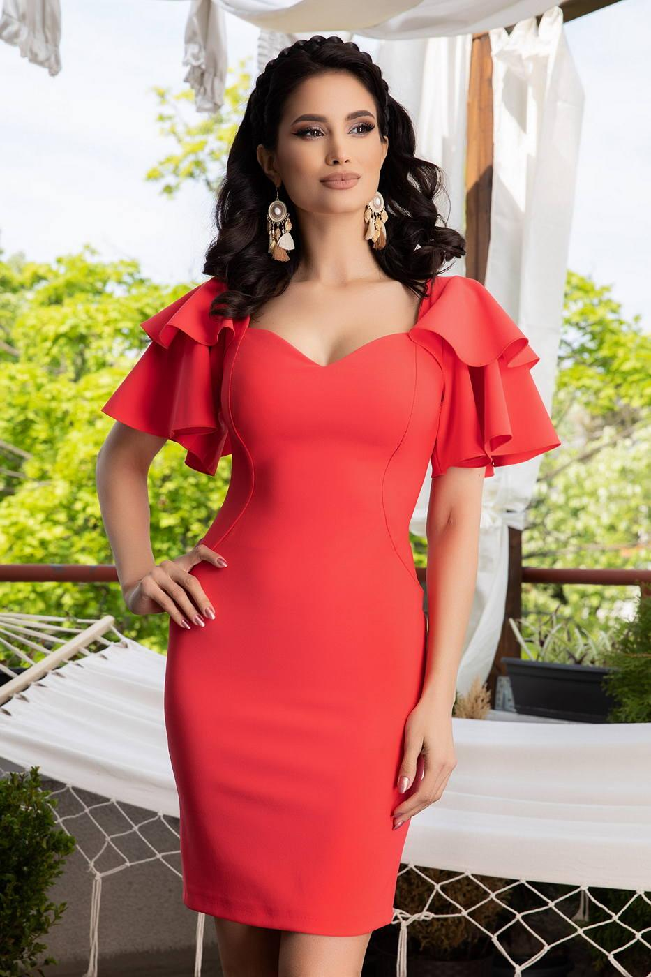 Amberly Coral Dress