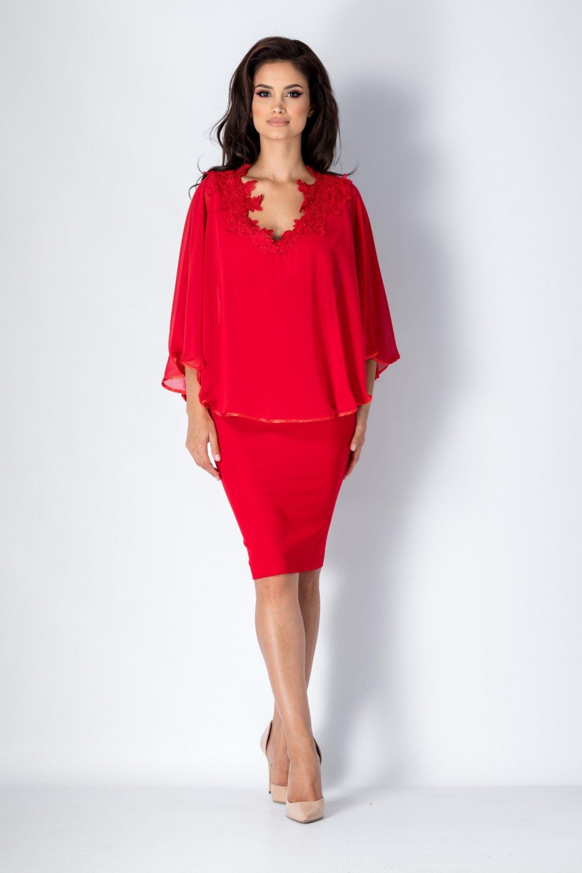 Calliope Κόκκινο Φόρεμα 1556