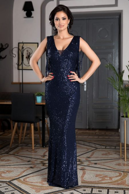 Sophisticated Navy Blue Dress