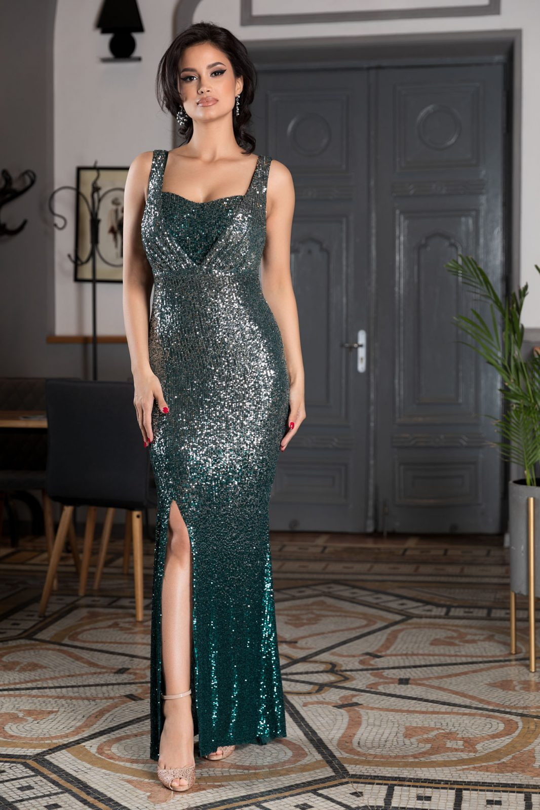 Night Diva Green Dress