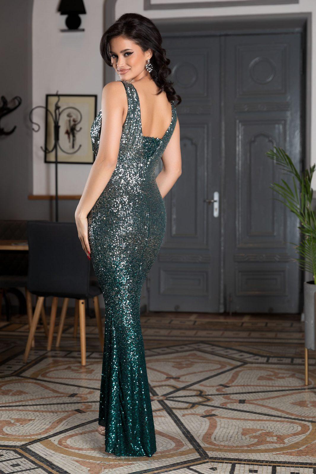 Night Diva Πράσινο Φόρεμα 4578