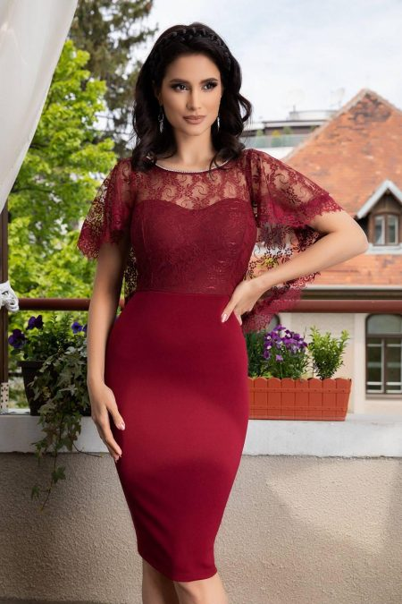 Karmine Burgundy Dress