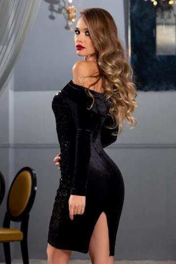 Imena Μαύρο Φόρεμα 4776