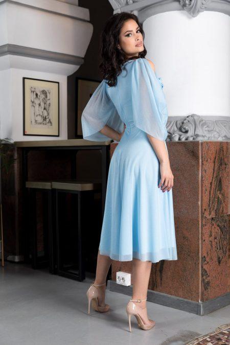 Rosario Γαλάζιο Φόρεμα 4561