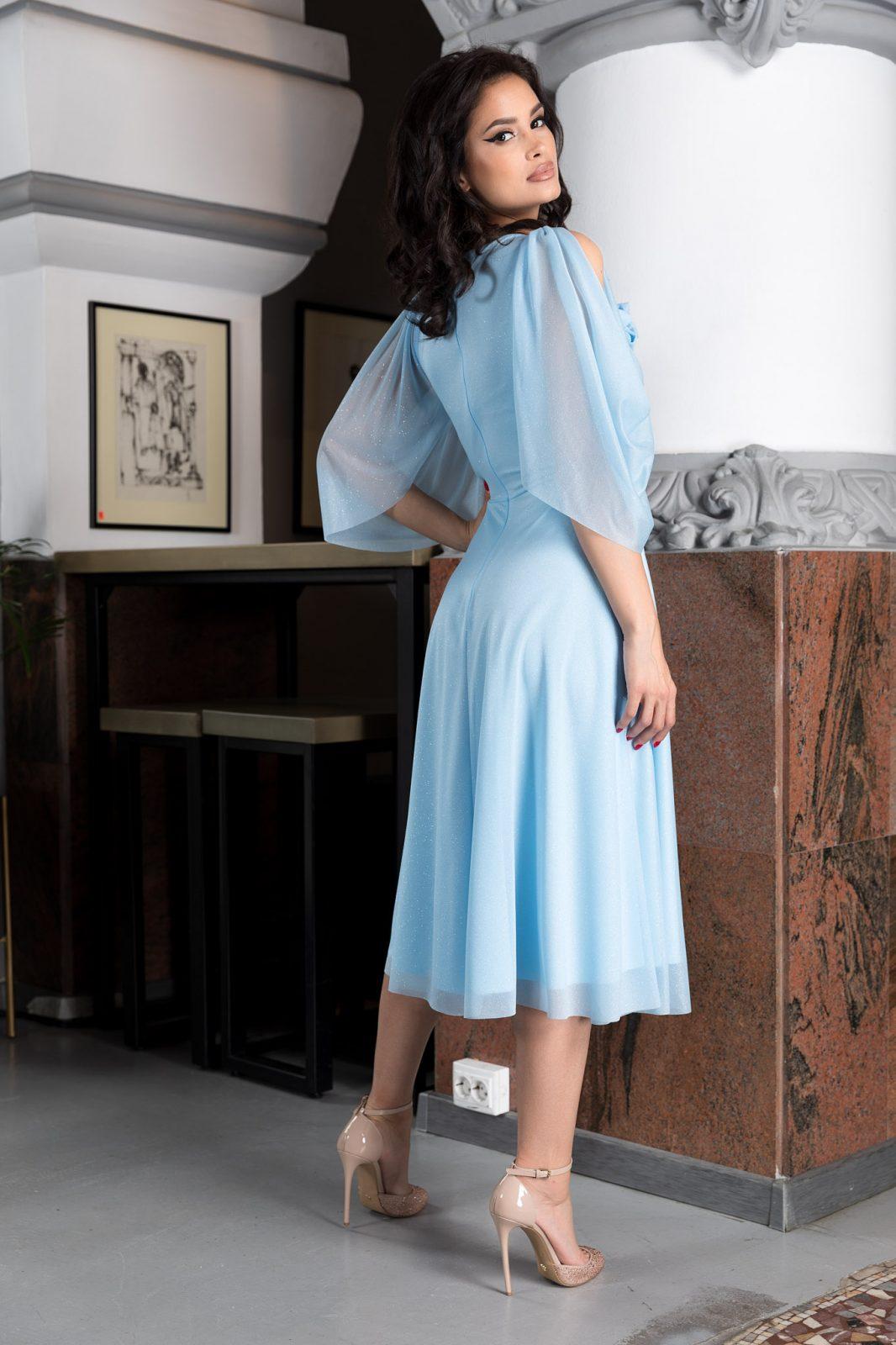 Midi Γαλάζιο Φόρεμα  Rosario 8196 1