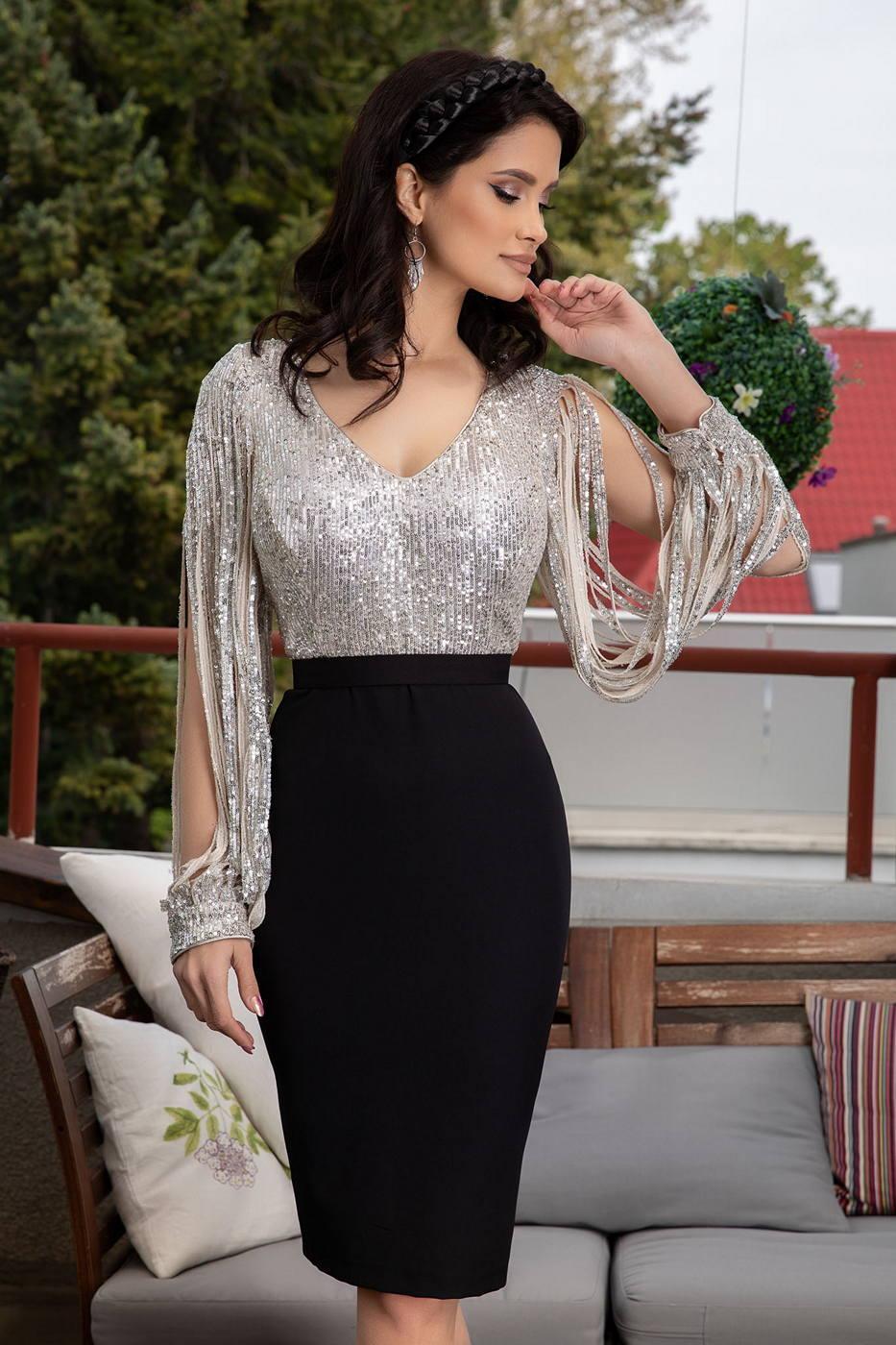 Evolette Ασημί Φόρεμα 1441