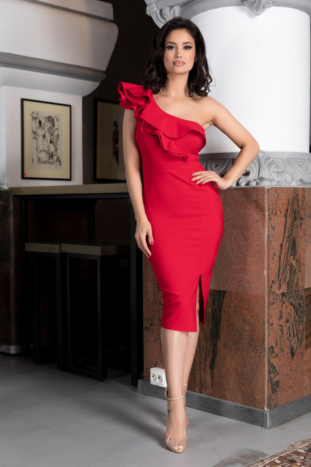 Scarlett Κόκκινο Φόρεμα 4628