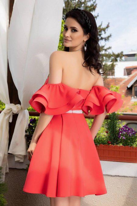 Chanelle Κοραλί Φόρεμα 1437
