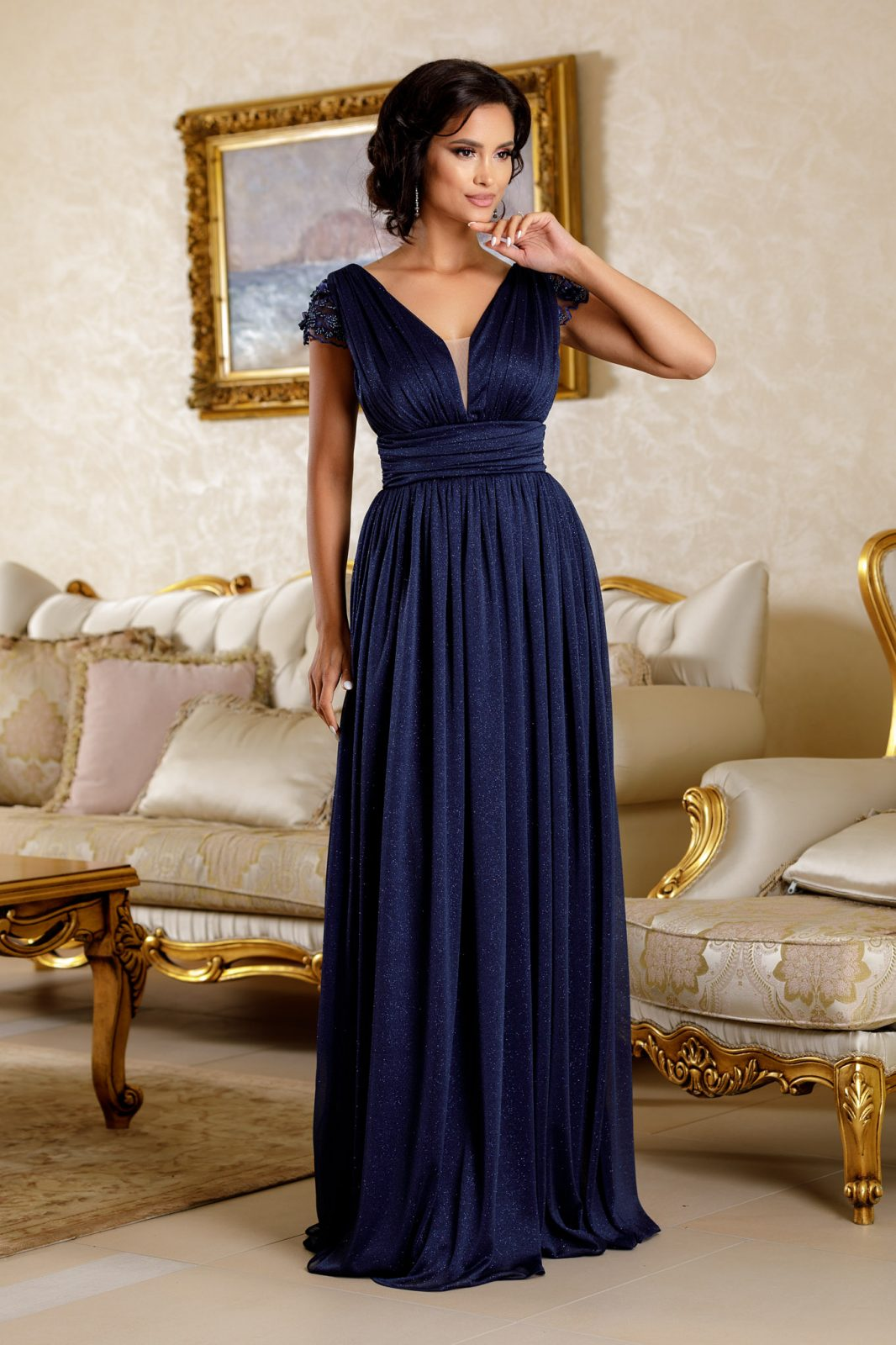 La Donna Beauty Navy Blue Dress