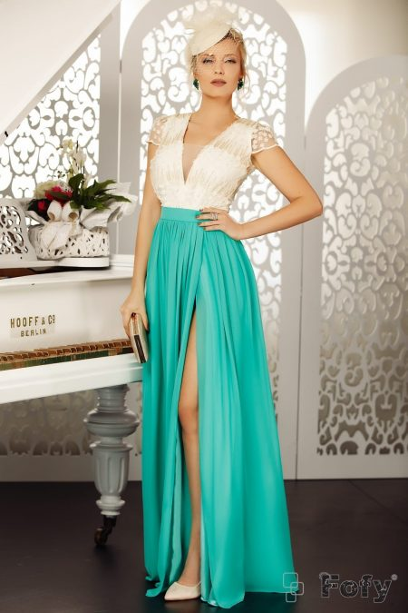 Glamy Turquoise Dress