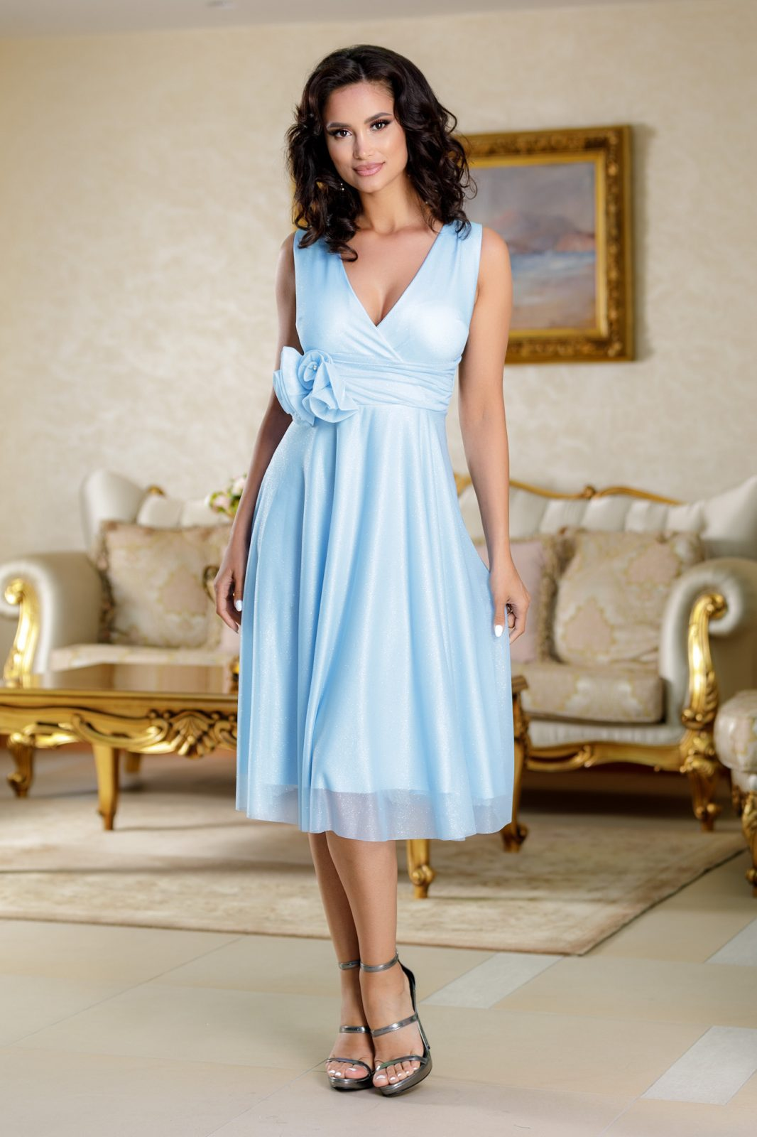 Rosalinda Blue Dress
