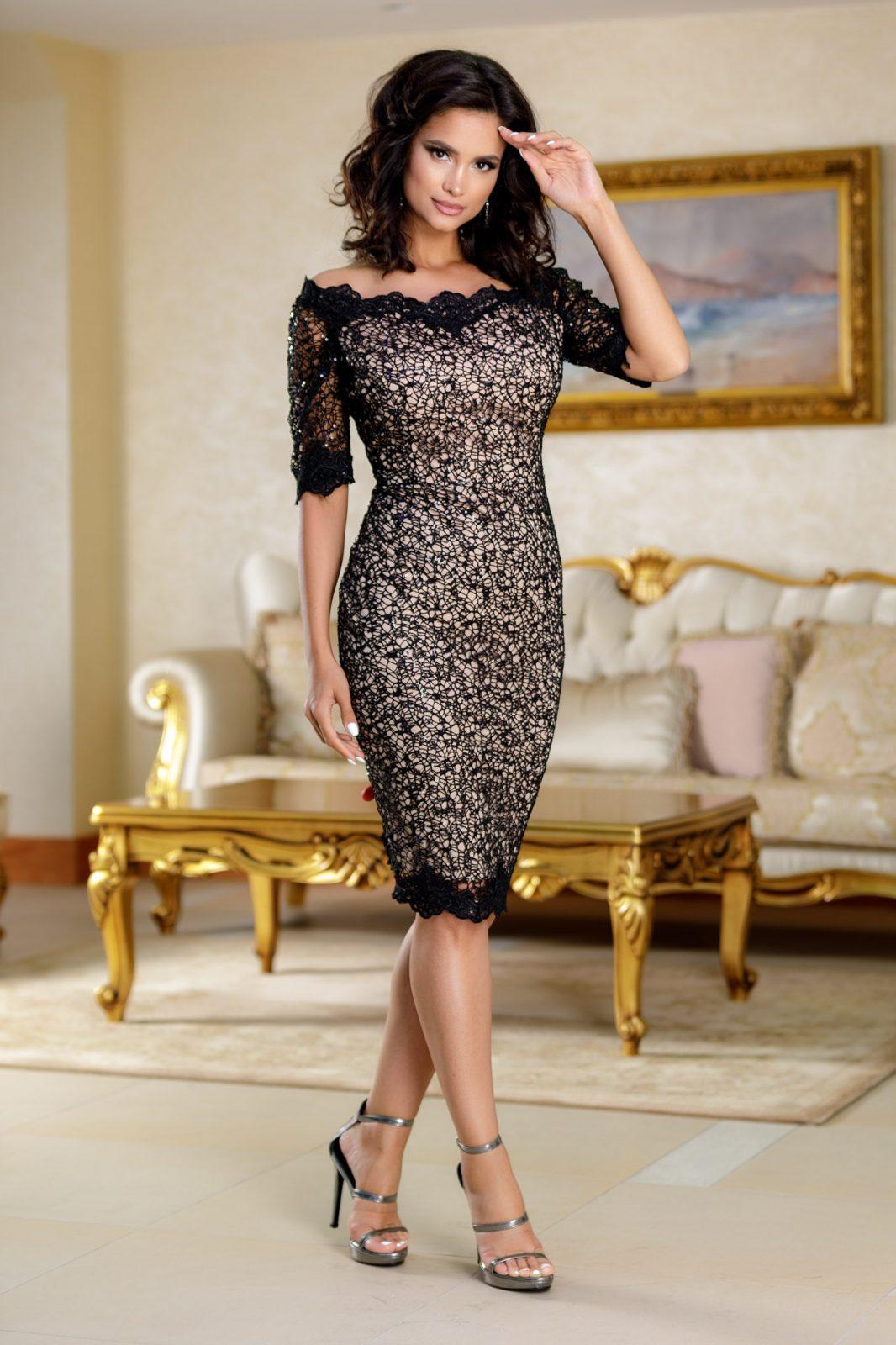 Mistique Μαύρο Φόρεμα 4694