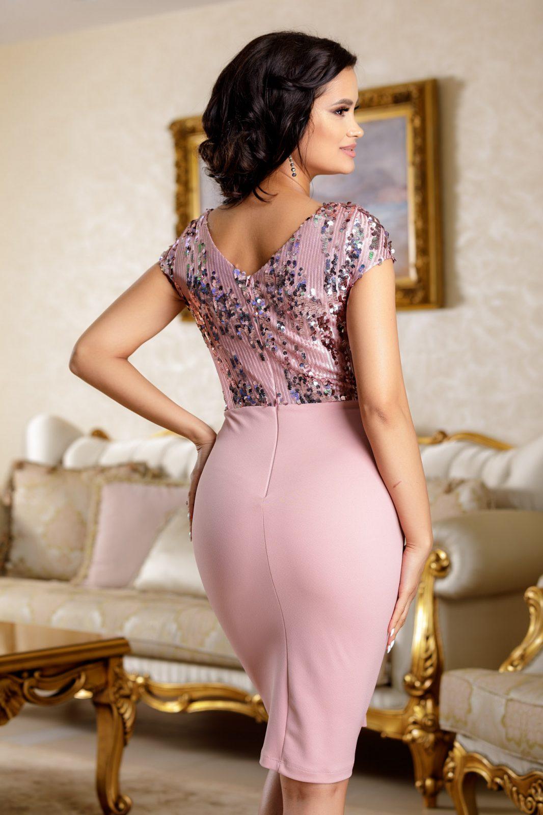 Viviane Ροζ Φόρεμα 4704