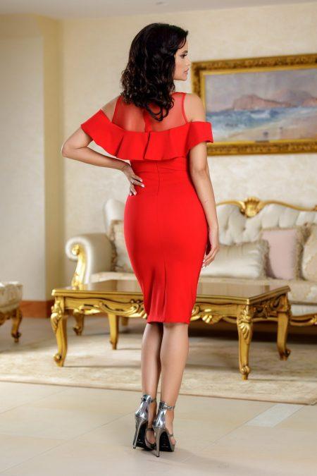 Brianna Κόκκινο Φόρεμα