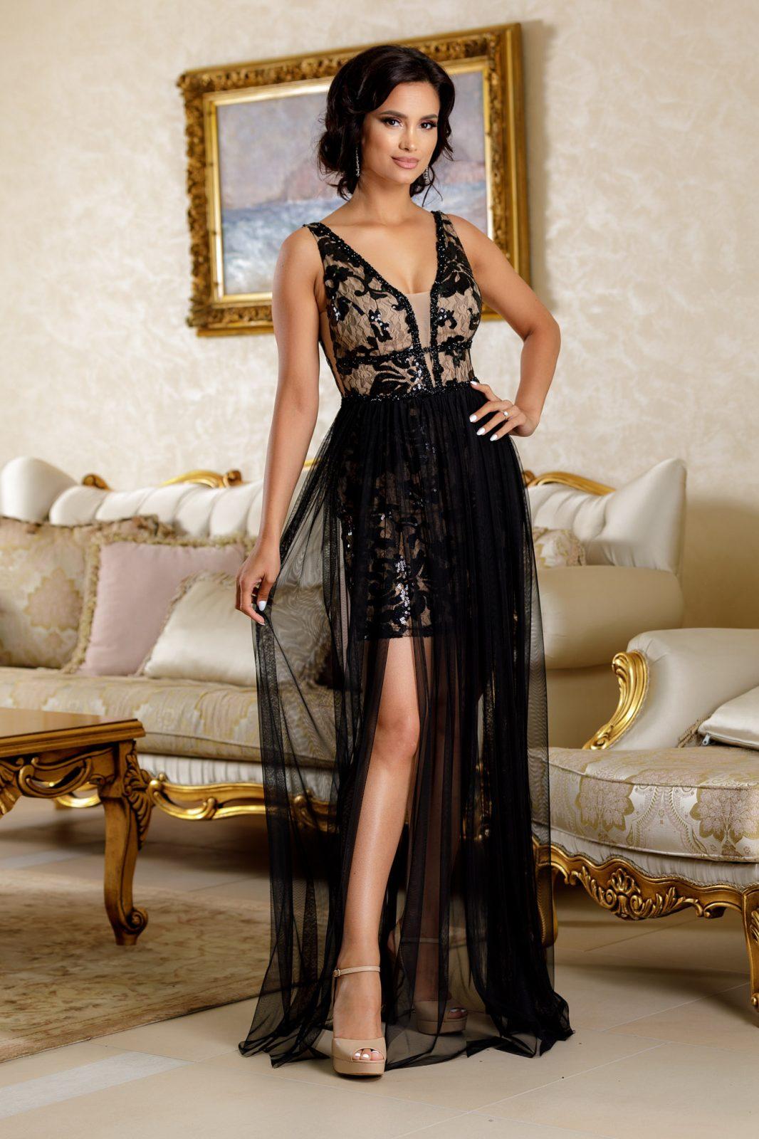 Daphne Μαύρο Φόρεμα 4719