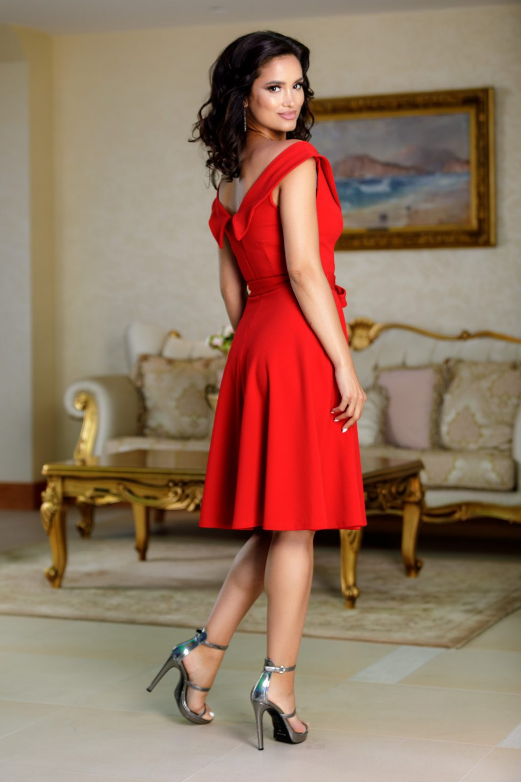 Minerva Κόκκινο Φόρεμα 4718