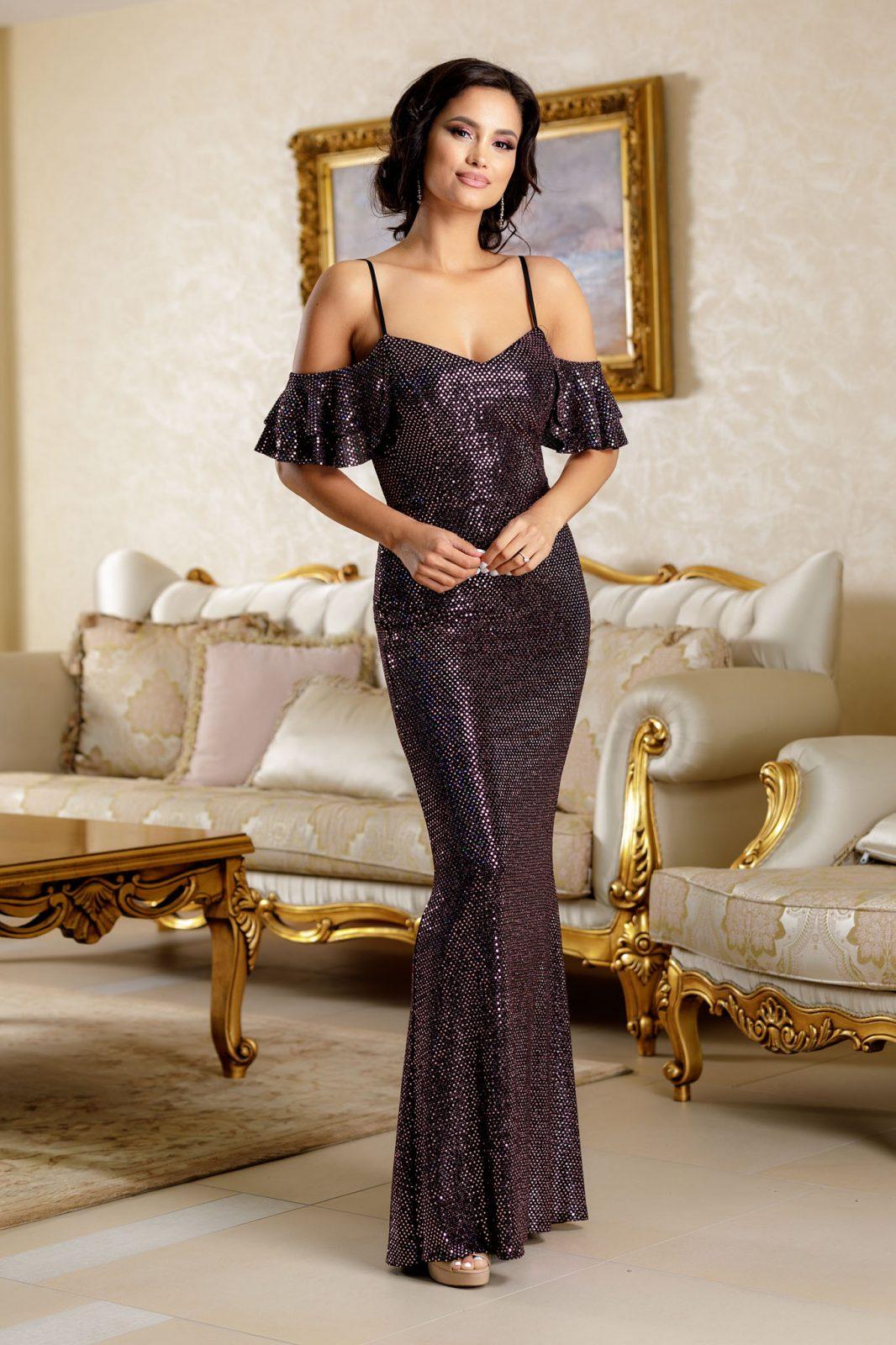 Fantasya Βιολετί Φόρεμα 4824