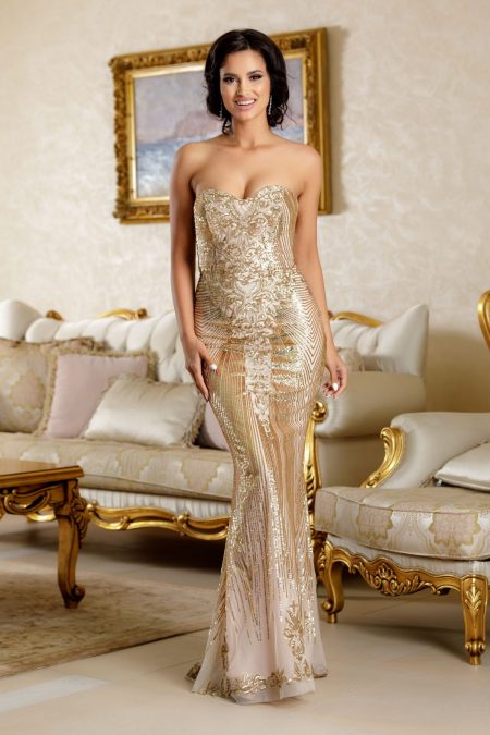 Cristally Golden Dress