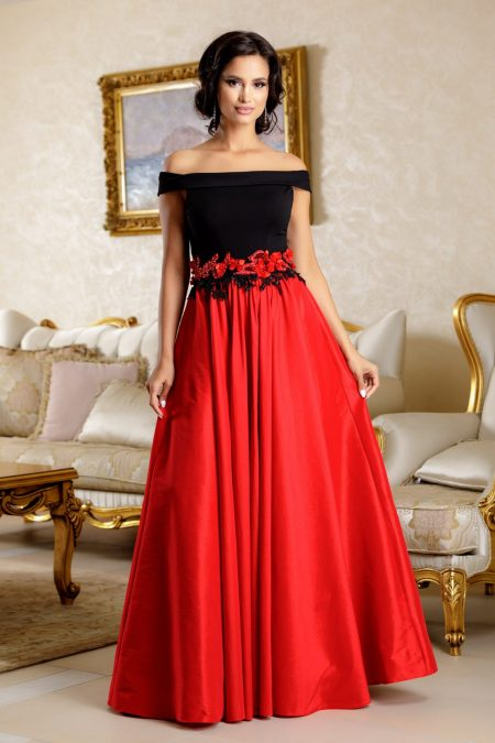 La Donna Regal Red Dress
