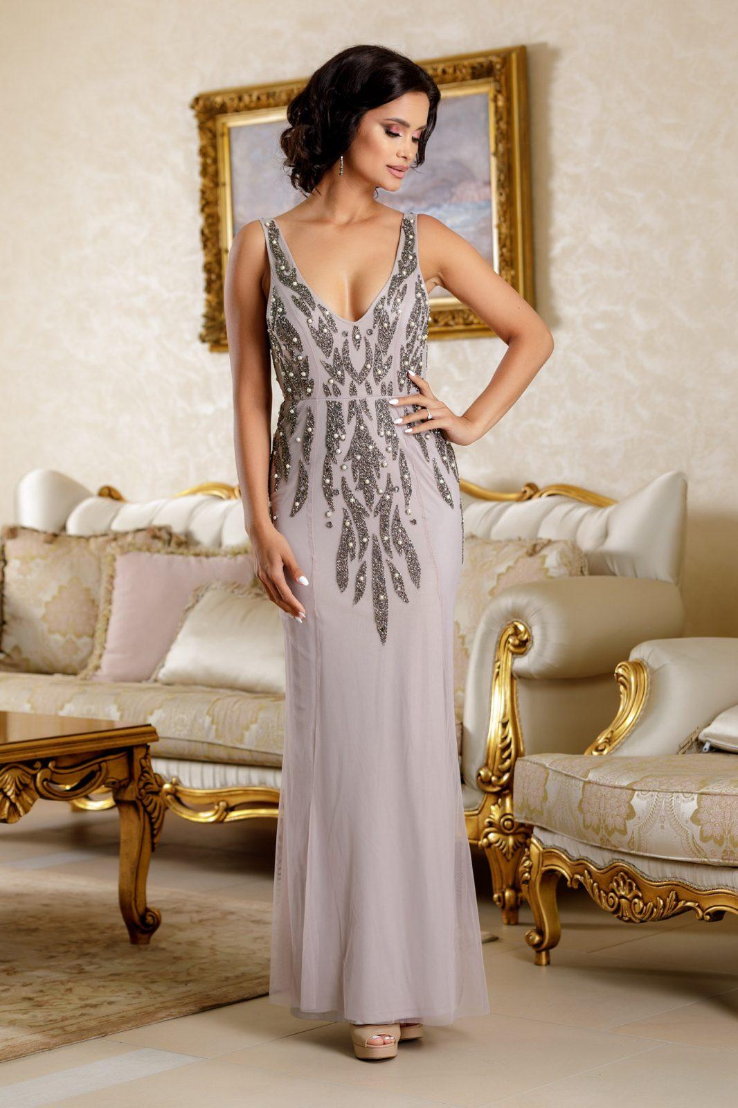 Divine Γκρι Φόρεμα 4798